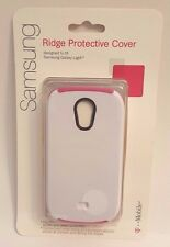 T-Mobile Ridge Protective Cover For Samsung Galaxy Light  ( White / Pink )