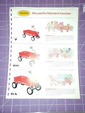 Radio Flyer wagon catalog section/scooter pedal car baby Kart wheelbarrow