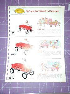 Radio Flyer wagon catalog section/scooter pedal car baby Kart wheelbarrow