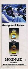 PUBLICITE ADVERTISING 095 1976 Molinard parfums Habanita Rafale