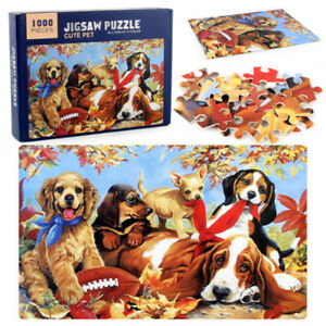1000 Piece Cute Dogs Jigsaw Puzzles for Adults Kids Large Puzzle Game Toys Gift