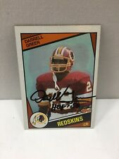 1984 Topps Darrell Green RC Rookie With HOF 2008 Inscription Redskins Black