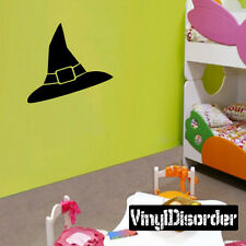Witches Hat Halloween Holiday Vinyl Wall Decal Mural Quotes Words -cp014