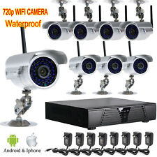 Wireless 8pcs 720P wifi 36IR Outdoor Camera 8ch NET NVR CCTV Security System Y