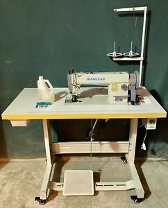HIGHLEAD WALKING FOOT LEATHER SEWING MACHINE SILENT SERVOMOTOR SPEED CONTROL
