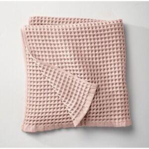 Casaluna Light Blush Pink Waffle Bath Towel set of 2 NEW