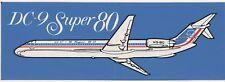 Vintage McDonnell Douglas DC-9 Super 80 Bumper Sticker