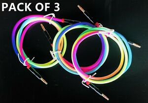 3 X 3.5mm Car Aux Auxiliary Cord Stereo Audio Cable for Phone iPod Rainbow Color