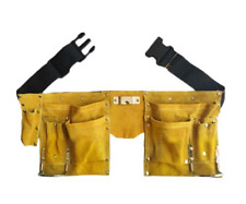 Leather Tool Belt Quick Release Buckle Carpenter Construction Work Apron Tool St