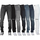 New ENZO Mens Basic Stretch Skinny Slim Fit Denim Jeans All Waist Sizes