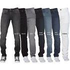 New ENZO Mens Basic Stretch Skinny Slim Fit Denim Jeans All Waist Sizes