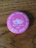 Vintage Pinback Hesper- Mabel Steam Engine Days 1987 Button Minnesota Pin