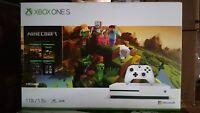 NIB Microsoft Xbox One S 1TB Minecraft Bundle White Console