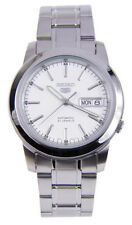Seiko 5 SNKE49 Men's Stainless Steel White Dial Day Date Automatic Watch