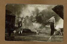 RPPC Hartford,WI Wisconsin, Kissel Bldg in full Blaze Sept 25,1909 used 1909