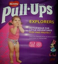 HUGGIES PANTS PULL UPS EXPLORERS ACTIVE DISNEY MINNIE MOUSE 24 Pack Size:1.5-3yr