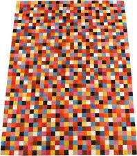 pelo di mucca Tappeto patchwork colorato 150 x 200 cm pelle Multicolore