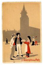 Paris France -SAINT GERMAIN DES PRÉS- Stylist Artist Postcard