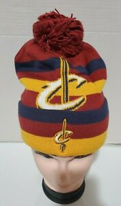 Cleveland Cavaliers NBA adidas Cuffed Knit Hat Beanie with Pom Mens One Size