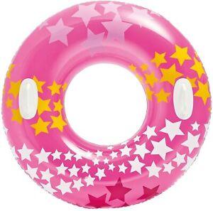 Intex Schwimmring Schwimmreifen Schwimmen Stargaze Wasser 2 Griffe 91cm Pink