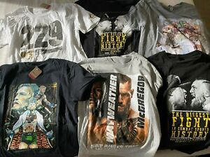 Conor McGregor UFC Champion MayMac Mayweather Shirts Large Lot of 6 - NEW