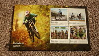 2016 IRELAND POST MINT STAMPS, IRELAND CYCLING ISSUE SET OF 4 SHEETLET MNH