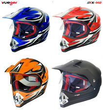 Motorradhelm Crosshelm Quad Cross Enduro ATV Race Motocross Offroad Helm rueger