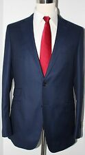 SuitSupply Blue Birds Eye Two Button Wool Side Vented Suit 42 L Slim 34 33 Flat