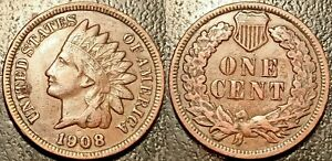 United States - Indian Head Cent 1908 - Km#90a