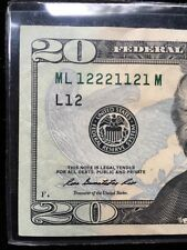 2013 $20.00 FRN Fancy Binary #  ML 12221121 M AU