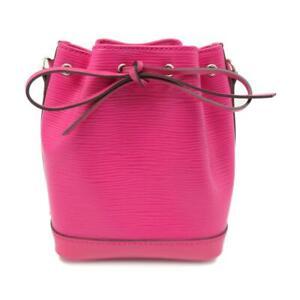 Auth Louis Vuitton LV Noe Nano Shoulder Bag M42573 Epi Pink 0808