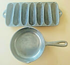 """Vintage BSR Red Mountain Series 3X Skillet & Cast Iron Corn Tray 13"""" x 6"""" Used"""