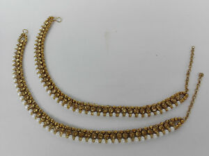 Ethnic Indian Anklet Jewelry Gold Plated Bollywood Pazeb Fashion Payal