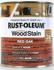 1 Can Rust-Oleum 32 Oz Ultimate Wood Stain One Coat 205673 Red Oak Dry In 1 Hour