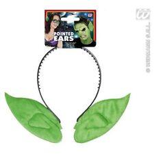 Green Pointed Elf Goblin Pixie Alien Ears on Headband Soft Ears 8005