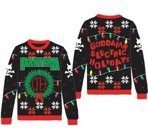 Pantera Metal Thrash Rock Music Band Ugly Holiday Christmas Sweater 83151620