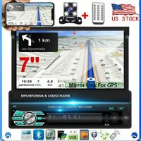 7'' 1Din Car Radio Touch Screen FM Bluetooth MP5 Player Stereo No GPS + Camera