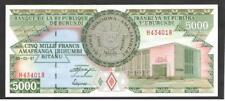 BURUNDI  5000  FRANCS  1997 P 40  UNCIRCULATED  Prefix H