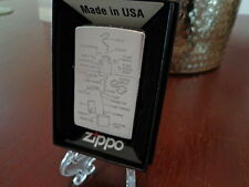 ANATOMY OF A ZIPPO BRUSHED CHROME ZIPPO LIGHTER MINT IN BOX