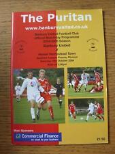 16/10/2004 Banbury United v Hemel Hempstead Town  (Item in very good condition,