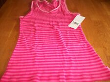 "NWT! ""EVERLAST"" PINK STRIPED RIB TANK TOP SIZE M  $30."