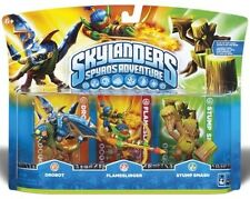 Skylanders Spyros Adventure Giants DROBOT FLAMESLINGER STUMP SMASH Swap Force!