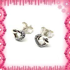 Pandora Silber geknotet Herz Ohrringe s925 ALE