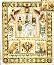 EGYPTIAN SAMPLER Counted Cross Stitch Kit Wentzler Pharoah,Lotus flower,gold det
