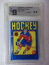 1979-80 Topps Hockey Wax Pack GA Graded NM-MT 8.5 -Wayne Gretzky RC