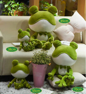 Kids Cute Stuffed Animal Plush.Soft Toy Frog Pillow Cuddly Doll Bedtime Gifts