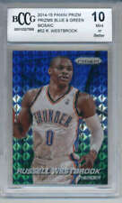 2014-15 Panini Prizm Blue Green Mosaic #52 Russell Westbrook BCCG 10 MINT