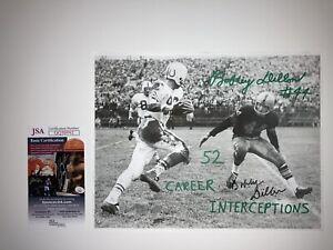 Bobby Dillion Signed JSA 8x10 Green Bay Packers Vince Lombardi Bart Starr Era