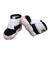 Crochet Baby Shoes J Sport Air Girl  Casual Infant Newborn Sneakers Pink  Warm