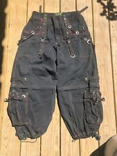 Tripp Nyc Hot Topic Bondage Pants Shorts Gothic Cyber Punk Vtg Size Xl 36x30